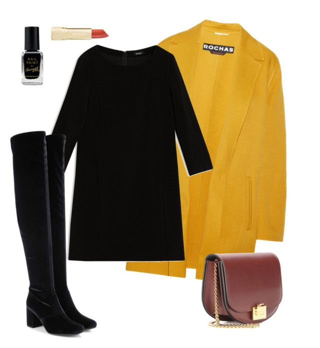 """fall"" by nori-nagy on Polyvore featuring Barry M, Rochas, Max&Co., Yves Saint Laurent and Victoria Beckham"