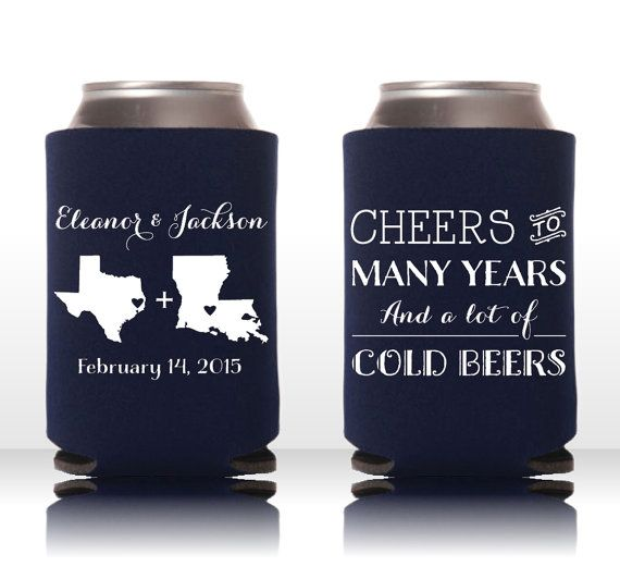 Cheers To Many Years And Cold Beers Custom Can Cooler