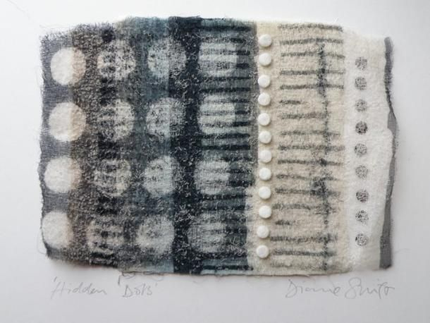 "DIonne Swift ""Hidden Dots"" 2011, 25 x 20 cm, Cotton---Needle Felting"