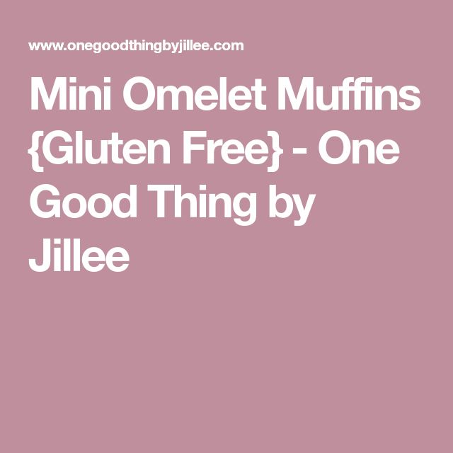 Mini Omelet Muffins {Gluten Free} - One Good Thing by Jillee