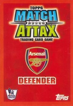 2007-08 Topps Premier League Match Attax #3 Emmanuel Eboue Back