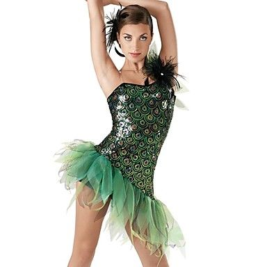 Dresses Women's/Children's Performance Spandex/Organza/Sequined Ruffles/Sequins As Picture – AUD $ 82.19