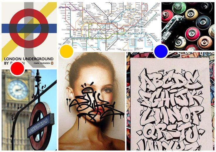 "mood board "" underground "" pour K-Way Mainstream Power"