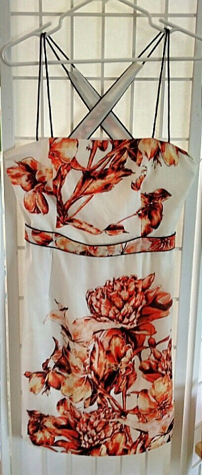 Suchin and Babi Sundress Polyester Burnt Orange Flower Print Excellent Pre Owned   Clothing, Shoes & Accessories, Women's Clothing, Dresses   eBay!