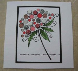 made with Woodware Bubble Bloom Clarissa stamp and Card Candi with Sakura Pens. www.aldridgecrafts.co.uk