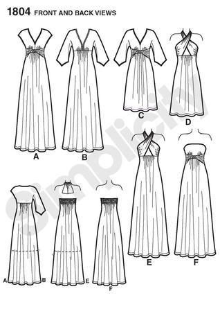 simplicity dress: i like D for a senior solo costume