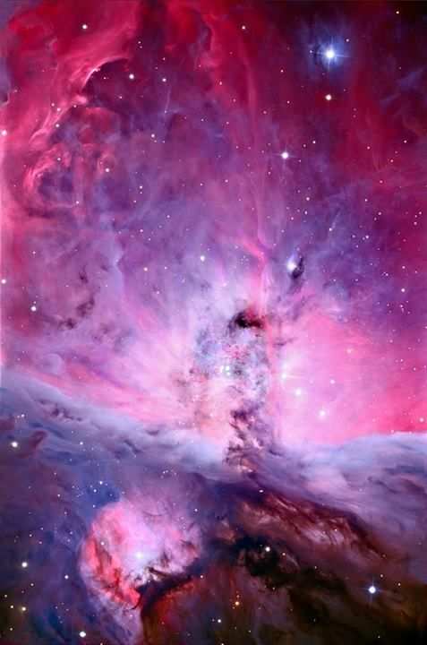 This is a picture of the Orion nebula as you've never seen it before. It was taken with a new camera that allows telescopes on Earth to counteract the effects of atmospheric distortion, creating images twice as sharp as the Hubble space telescope. That makes this one of the sharpest pictures of the cosmos ever taken.