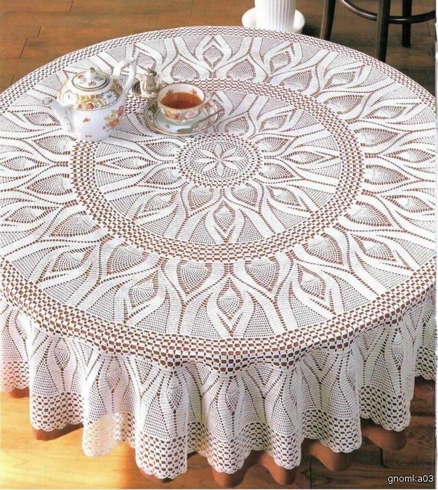 Croche e Cia: Toalha Redonda Grande: Tables Clothing, Hook, Crochet Jacket, Crochet Tables, Crochet Thread, Crochet Tablecloths, Tablecloths Crochet, Crochet Doilies, Crochet Patterns