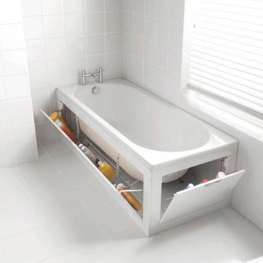 108 best Salle de Bain images on Pinterest Bathroom, Bathrooms and - meuble salle de bain panier a linge