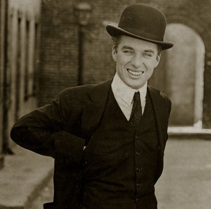 Charlie Chaplin c.1918 (in The Kid set) Little did you know, charlie chaplin was actually completely adorable in real life.