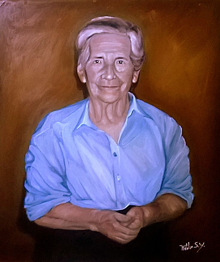 Retrato de mi abuela #oilpainting #portrait