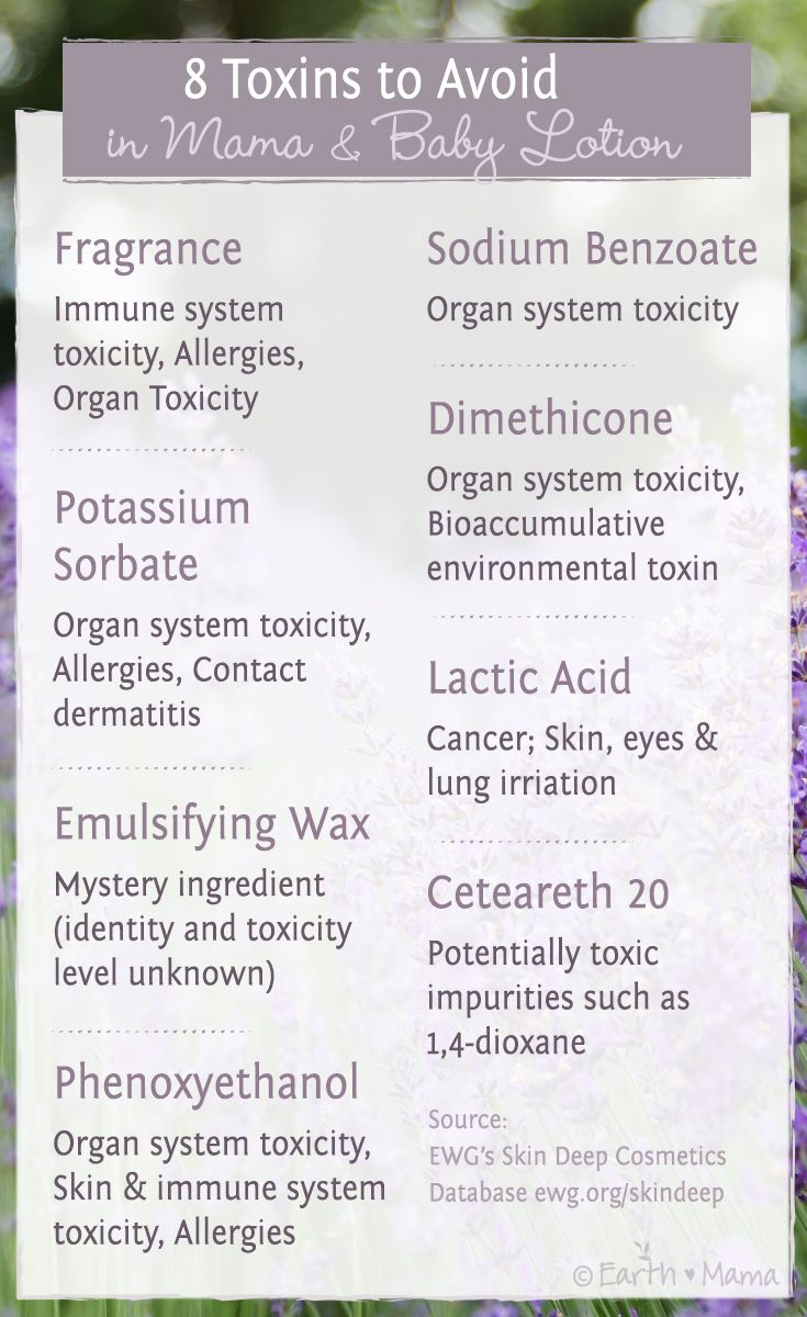 8 Toxins to Avoid in Mama and Baby Lotion