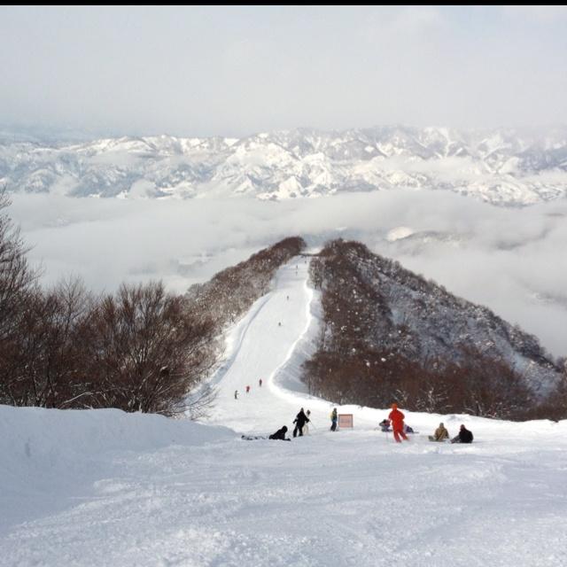 Skyline ski run at Nozawa, Nagano pref
