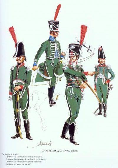 Tropas Españolas. Cazadores a Caballo 1808