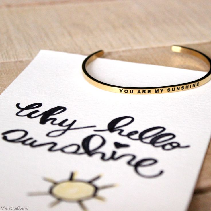 You Are My Sunshine bracelet.  Great Mother's Day gift idea  @mantraband