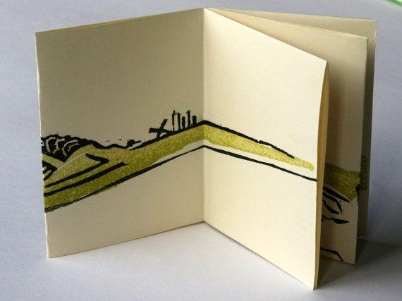handgedrukt boekje een logboek voor een door deSlootjesschilder #texel