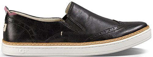 Ugg Australia Women's Hadria Leather Brogues Slip On In Black In Size 39 Black - Chaussures ugg (*Partner-Link)