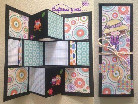 DIY: Tarjeta pop up pequeña/ card making/ tarjeta plegable - YouTube