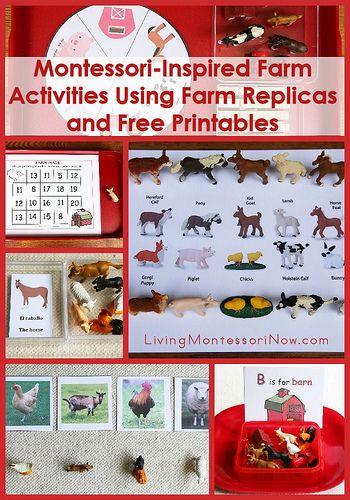 Free Farm Printables and Montessori-Inspired Farm Activities Using Replicas and Printables