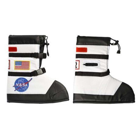 Nasa Astronaut Boot Covers Child Halloween Costume Accessory, Boy's, Size: Medium, White