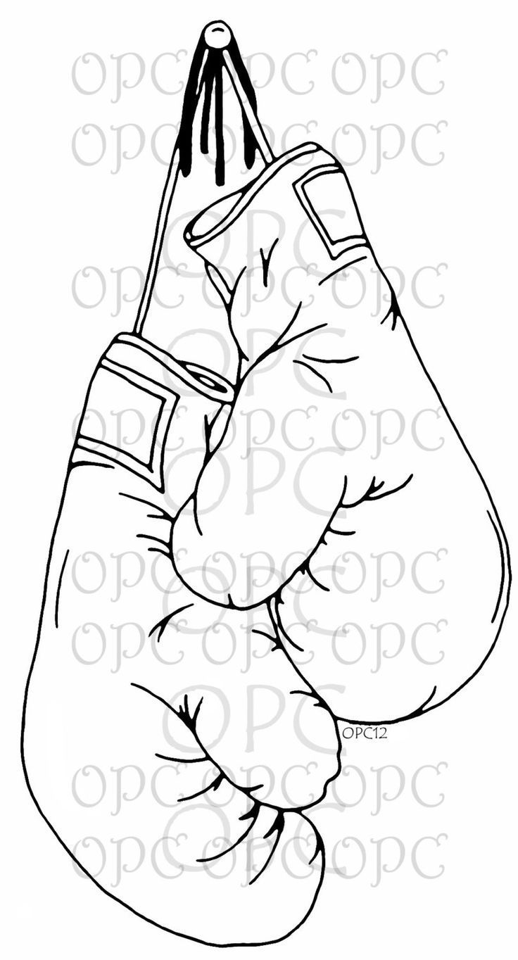Digital Stamp Boxing Gloves By Oakpondcreations On Etsy Boxing Gloves Tattoo Boxing Tattoos Boxing Gloves Drawing