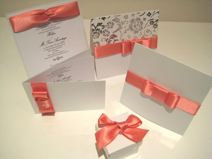 Image Detail For  Themed Wedding Invitations/summer Wedding Theme Wedding  Invitations ... Coral Grey ...