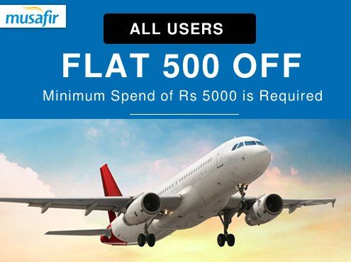 Flat 500 off on Domestic Flight Booking of Rs 5000