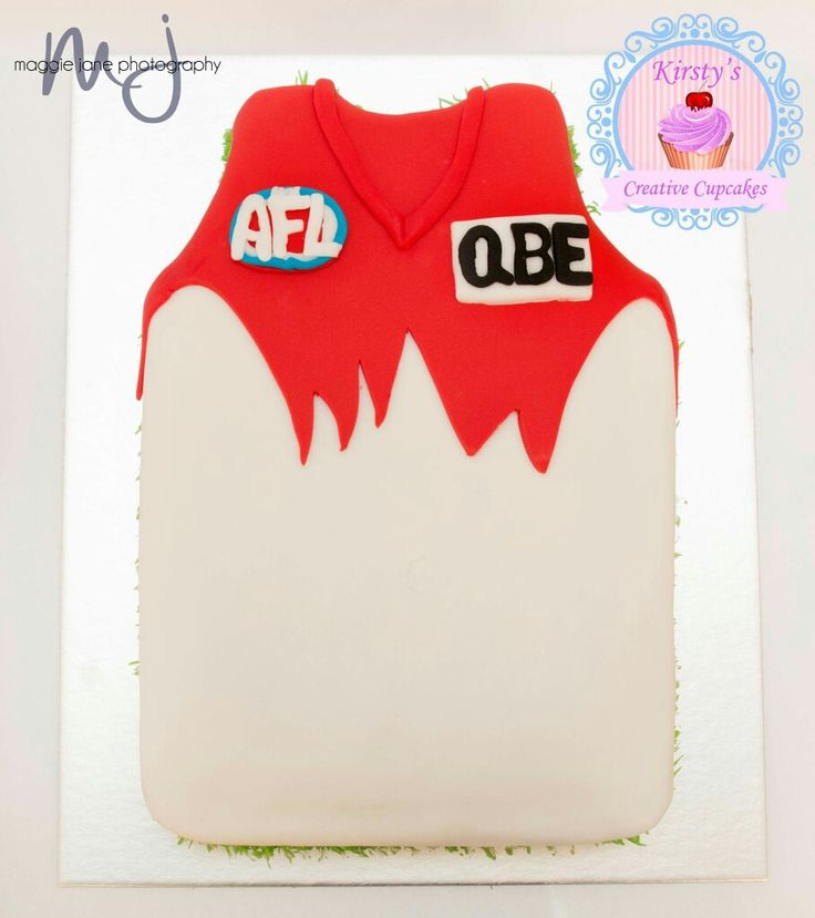 Sydney swans AFL cake
