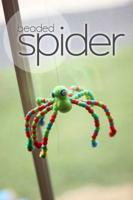 A Halloween Beaded Spider Craft for Kids