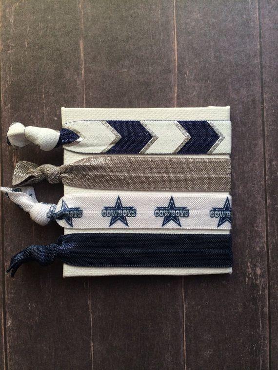 Dallas Cowboys  Star FOE Hair Ties by SimplyCraftyCo on Etsy