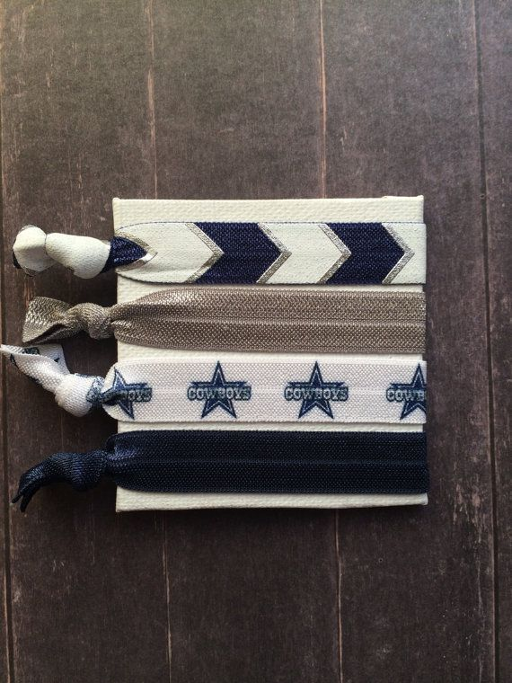 Dallas Cowboys  Star FOE Hair Ties by SimplyCraftyCo on Etsy