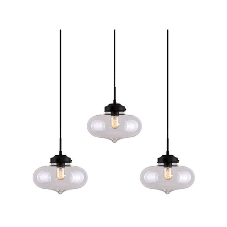 Závěsné světlo Rabat CL 85 cm, transparentní - 1