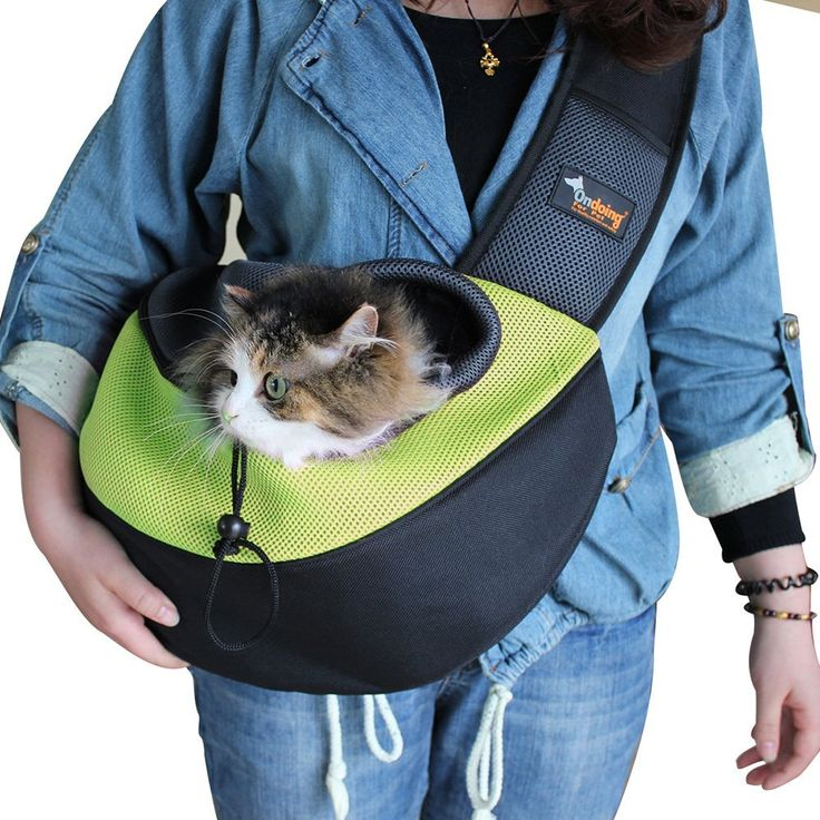 Small Dog Cat Sling Carrier Bag Travel Tote Soft