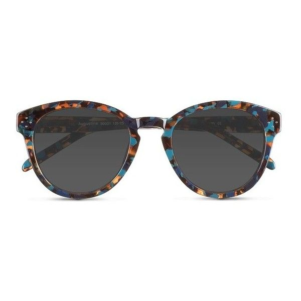 Women's Augustine - Blue Floral round - 17261 Rx Sunglasses (370 EGP) ❤ liked on Polyvore featuring accessories, eyewear, sunglasses, glasses, floral print sunglasses, round keyhole sunglasses, blue sunglasses, studded sunglasses and floral sunglasses