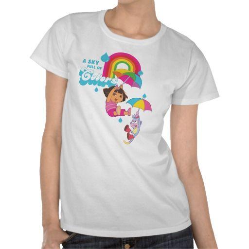 Dora The Explorer - A Sky Full Of Colors Tshirts