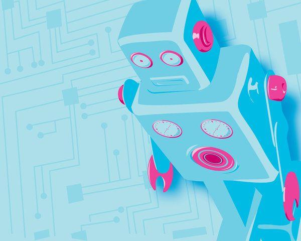 Robot Wallpaper by ~Tabbathehutt on deviantART: One of my more popular illustrations, available in desktop wallpaper sizes