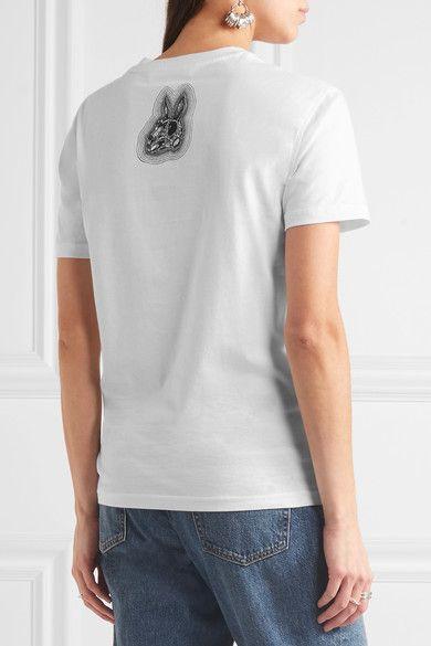McQ Alexander McQueen - Printed Cotton-jersey T-shirt - White -