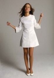 Swinging #sixties #style short #wedding #dress.... classic and very hip!