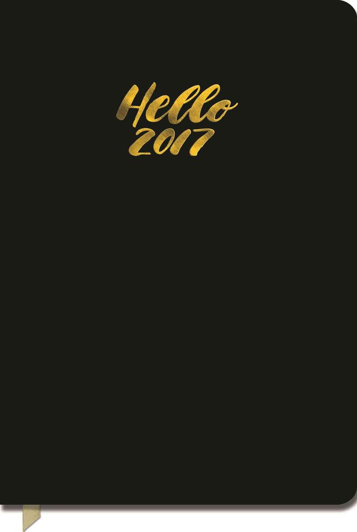 Hello Black Leatherette A5 Diary 2016-2017
