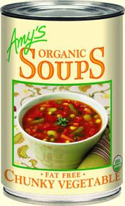 Chunks of fresh, tender organic vegetables in a flavorful broth give this soup a satisfying homemade taste.