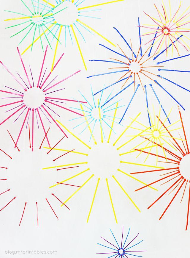 DIY Zip Tie Fireworks Display