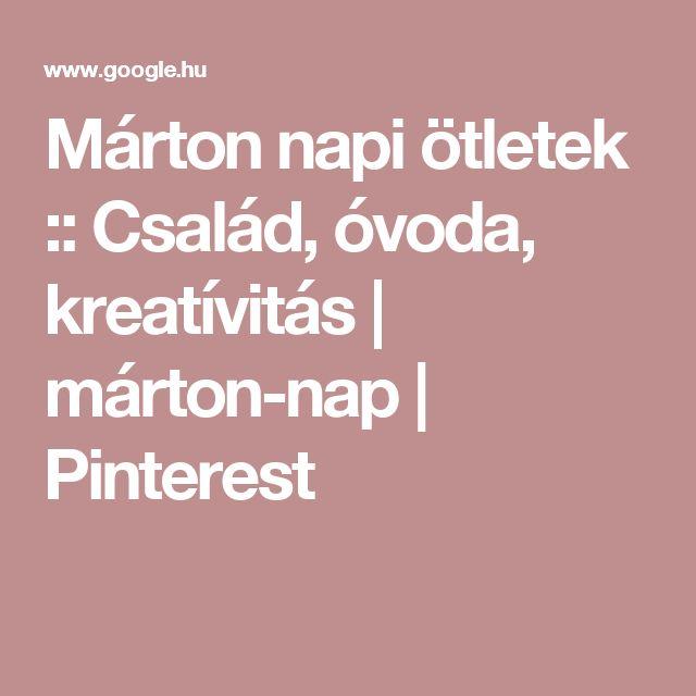 Márton napi ötletek :: Család, óvoda, kreatívitás | márton-nap | Pinterest