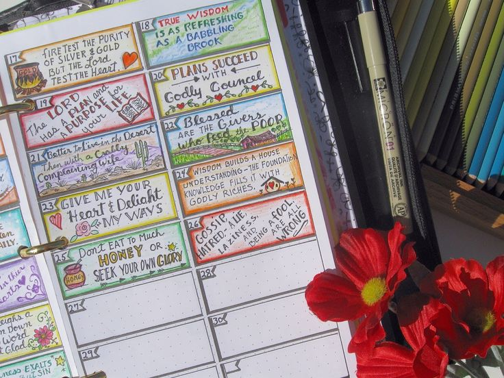 A Palette Full of Blessings: Tiny Scripture doodles, and new Bible study