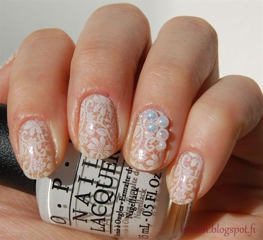 Wedding Nail Art Designs Gallery: 194 Best Images About Bridal Wedding Nail Art On Pinterest