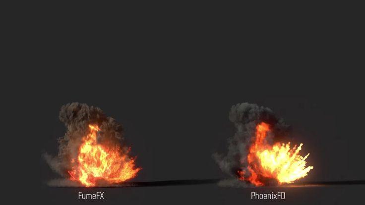 Explosions R&D FumeFX vs Phoenix FD on Vimeo