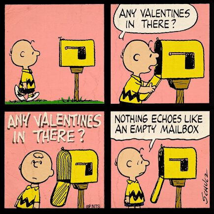 empty mailbox charlie brown kicks nothing echoes like an empty mailbox snoopy pinterest charlie brown and brown peanuts