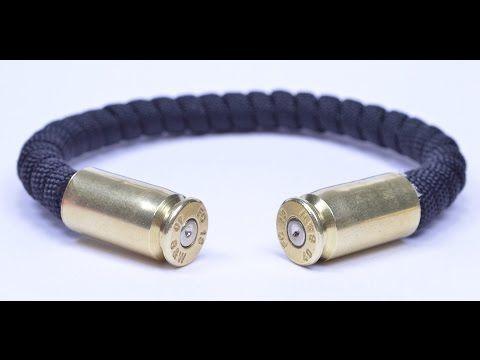 Make a Bullet Casing Paracord Bracelet - BoredParacord.com - YouTube