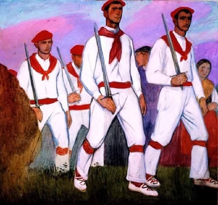 Euskal Dantzariak & Basque Folk Dancers. By Aurelio Arteta y Errasti.