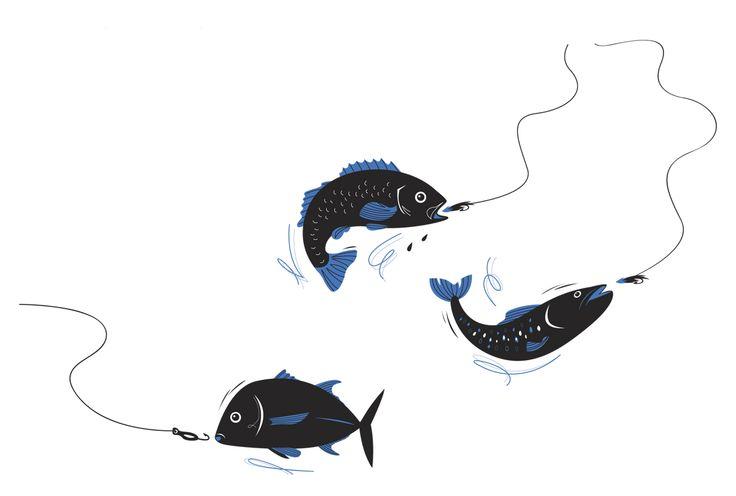 #joannakerr #newdivision #illustration #flatgraphic #line #nature #fish
