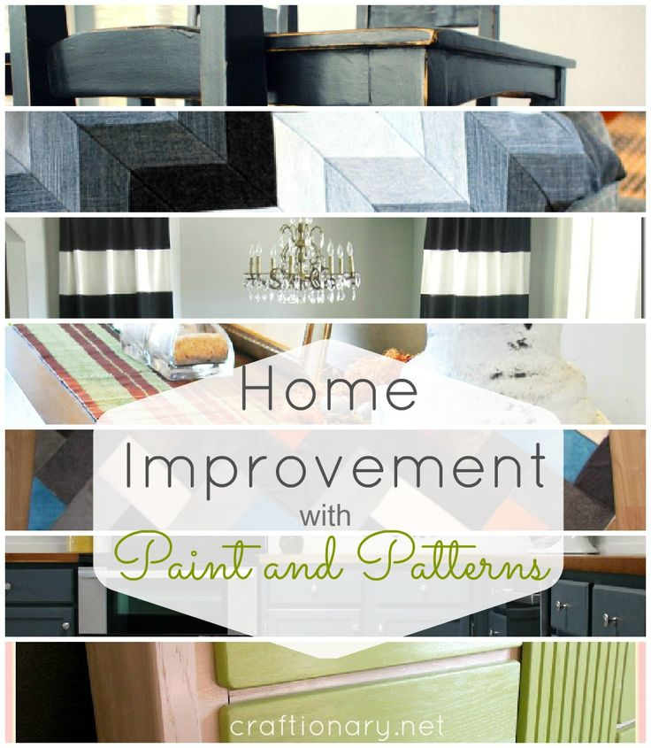 New Home Improvement ideas with paint and patterns - Craftionary